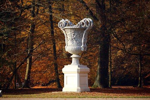Sculpture, Vase, Castle Park, Ludwigslust-parchim