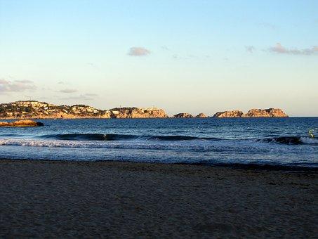 Sunset, Beach, Sea, Mallorca, Paguera