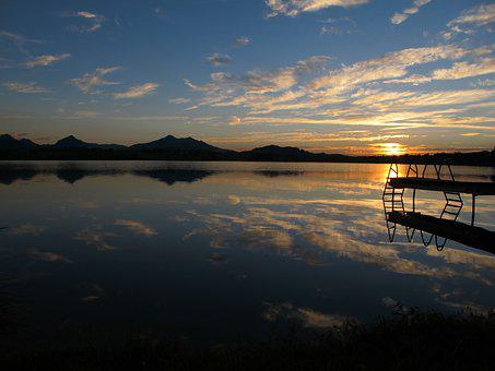 Hop On The Lake, Abendstimmung, Web, Sunset, Evening
