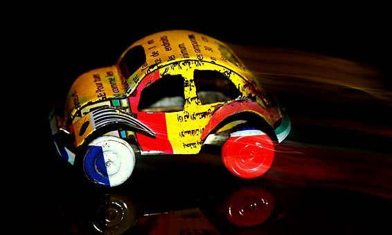 Auto, Toy Car, Vw Beetle, Sheet Metal Car, Miniature