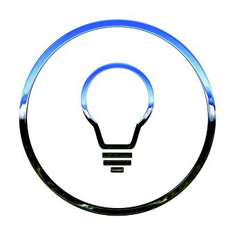 Icon, Idea, 3d, Lightbulb, Light Bulb, Light Bulb Icon