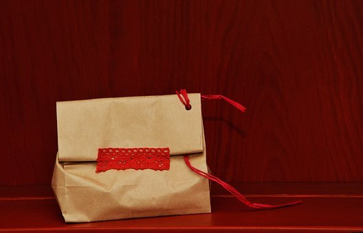 Made, Paper Bag, Gift, Red, Packed, Bag, Packaging