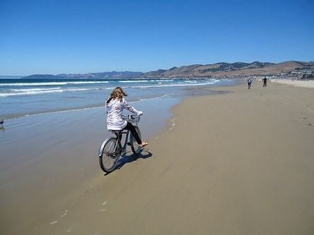Pismo, Beach, Bicycle, California