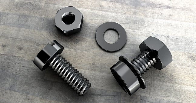 Screw, Thread, Technology, Mother, Metal, Hexagon Nut