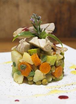 Rabbit, Tuna, Vegetables, Carrot, Peas, Food, Carrots