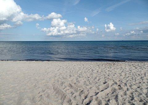Sand, Marielyst, Denmark, Lolland, Beach, Water