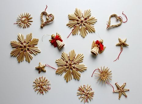 Christmas, Christmas Picture, Star, Poinsettia