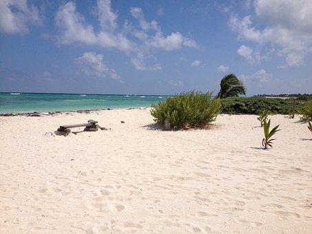 Mexico, Beach, Majahual, Sea, Sun, Ocean, Beautiful