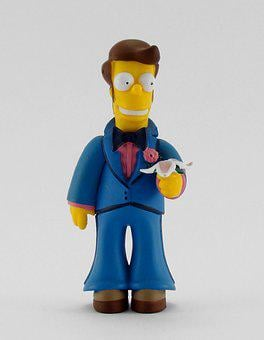 Toy, Simpsons, Homer, Snowman