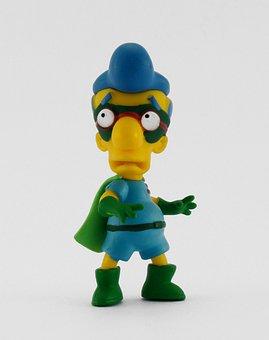 Toy, Simpsons, Milhouse, Snowman