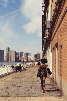 People, Pedestrian, Girl, Woman, African American