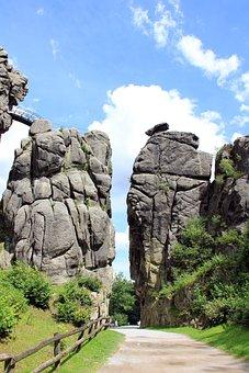 Externsteine, Rock, Teutoburg Forest, Away