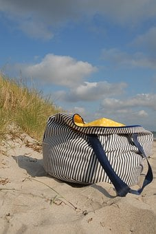 Beach Bag, Baltic Sea, Denmark, Beach, Bag