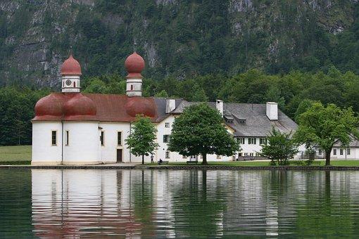 King Lake, Berchtesgaden, Island, Saint Bartholomä