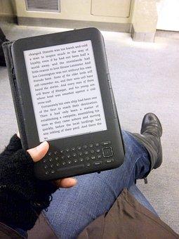Girl, Woman, Reading, Book, E Book, E Reader