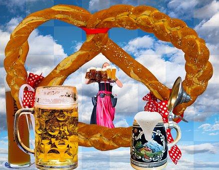 Oktoberfest, Beer, Breze, Pretzel, Bavaria, Munich