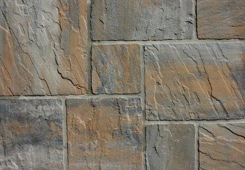 Steinplatte, Stone, Brown, Construction Material