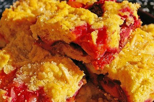 Cake, Streusel Cake, Plum Cake, Plum Cake With Streusel