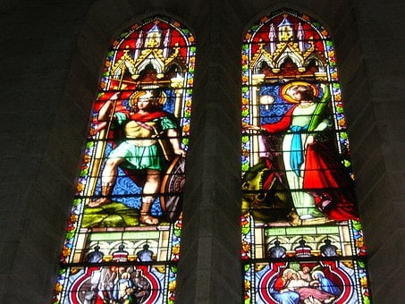 Stained Glass Windows, Church Window, Glass, Stained