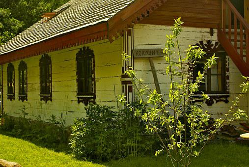 Cottage House, Window Decorations, Open Air Museum
