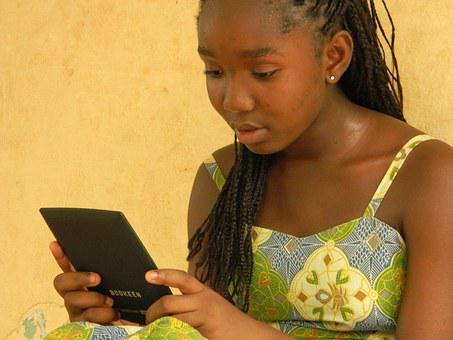 Girl, Mali, Reading, The Little Prince, E Book