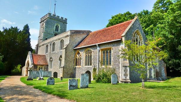 Church, England, Architecture, English, Old, Building