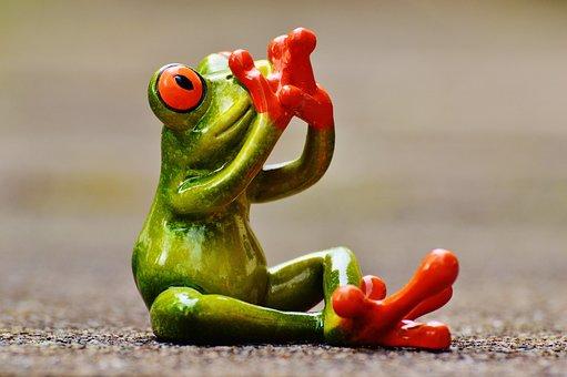 Frog, Figure, Do Not Speak, Funny, Cute, Fun, Sit