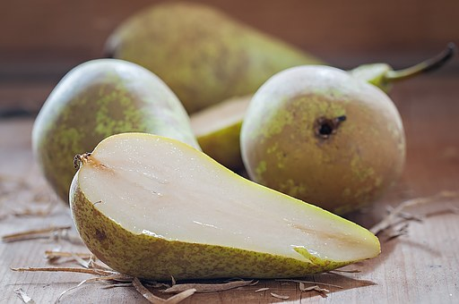 Pears, Cut In Half, Juicy, Food, Fruit, Sliced