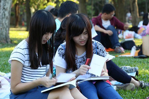Read Book Club Med, Girls, The Study, Learning, Park