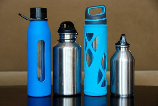 Bottles, Water, Steel, Glass, Stainless, Eco, Reusable