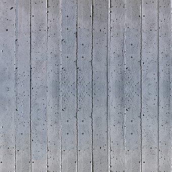 Concrete, Structure, Formwork, Grain, Wall, Grey