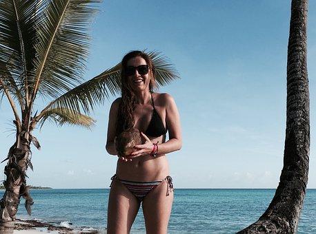 Caribbean, Palms, Sea, Tropical, Nature, Island