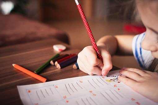 Child, Kid, Play, Tranquil, Study, Color, Write, Learn