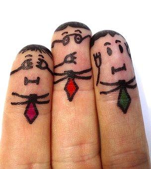 Finger Man, Not Hear, Not See, Don't Talk, Finger