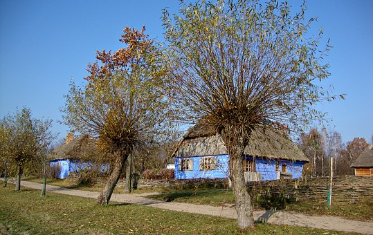 Sierpc, Poland, Open Air Museum, Cottage Country