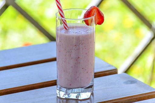 Strawberry Drink, Kefir, The Drink, Strawberries