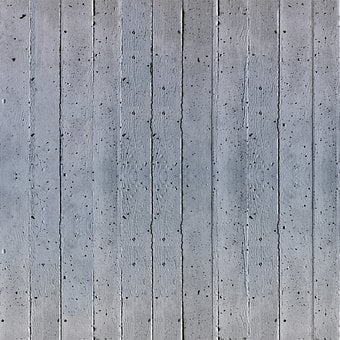 Concrete, Structure, Formwork, Grain, Wall, Grey