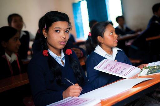 School, Exam, Students, Nepal, Education, Girl, Study