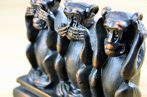 Three Monkeys, Three Wise Monkeys, Ancient Icon