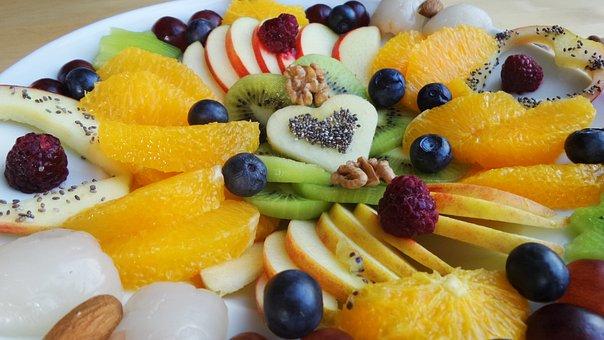 Fruit, Fruit Plate, Plate, Vitamins, Healthy, Apple