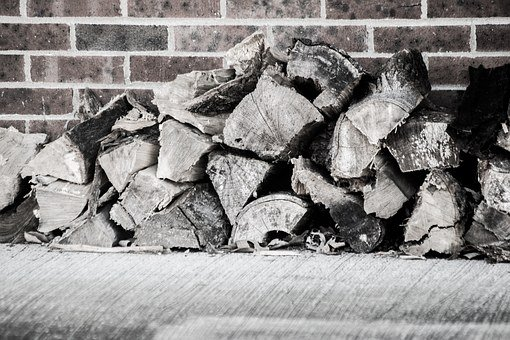 Wood, Brick, Firewood, Wall, Brick Wall, Block