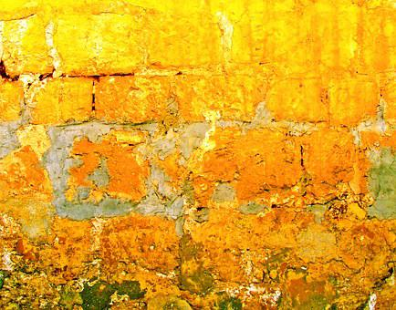 Stone Wall, Warm Color, Background, Color, Colour