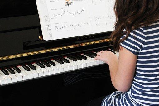 Piano, Music, Girl, Young, Musical, Musician