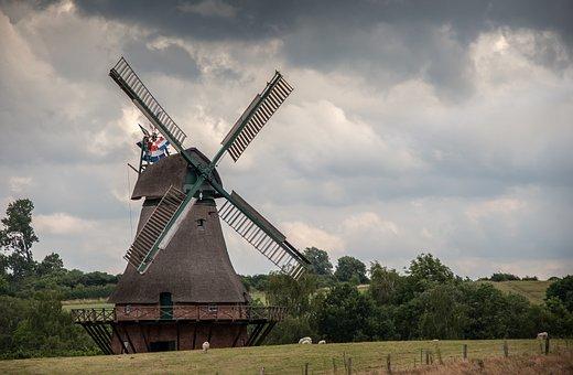 Old Windmill, Windmill, Old, Mill, Nostalgia, Windräder