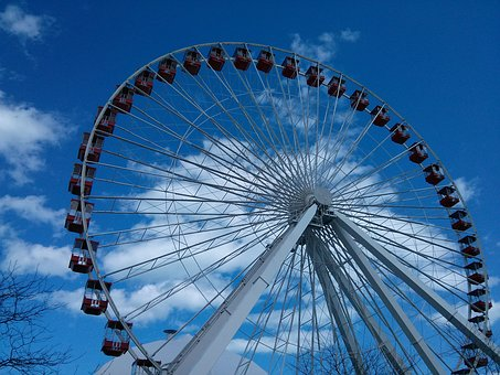 Ferris Wheel, Adventure, Recreation, Carnival, Ferris