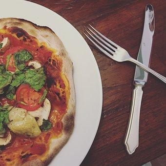 Pizza, Sourdough, Dough, Baked, Homemade, Mozzarella