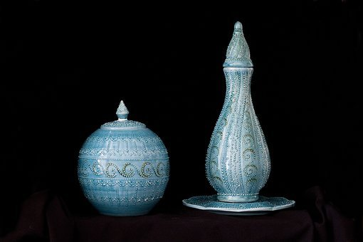 Tile, Handicrafts, Increased, Bowl, Vase, Ceramic