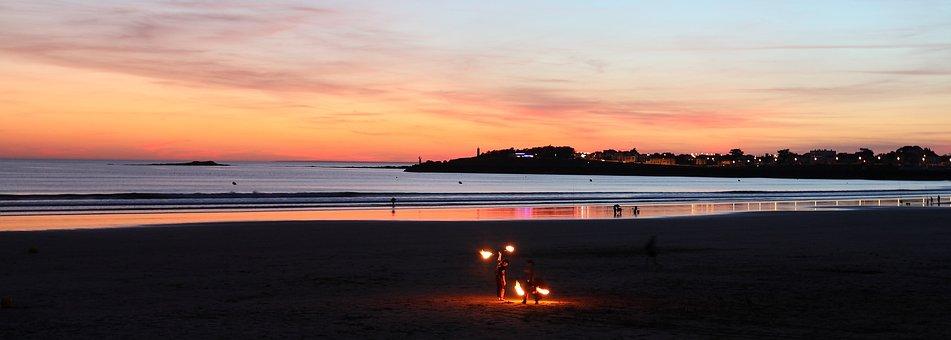 Sunset, Sea, Saint Gilles Croix De Vie, France