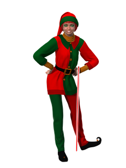 Woman, Christmas, Christmas Elf, Fantasy, Female