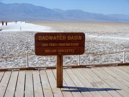 Bath Water Basin, Basin, Endorheic Basin, Closed Basin